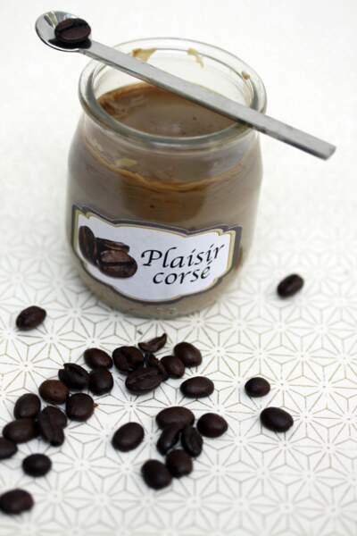 Yaourt végétal au café