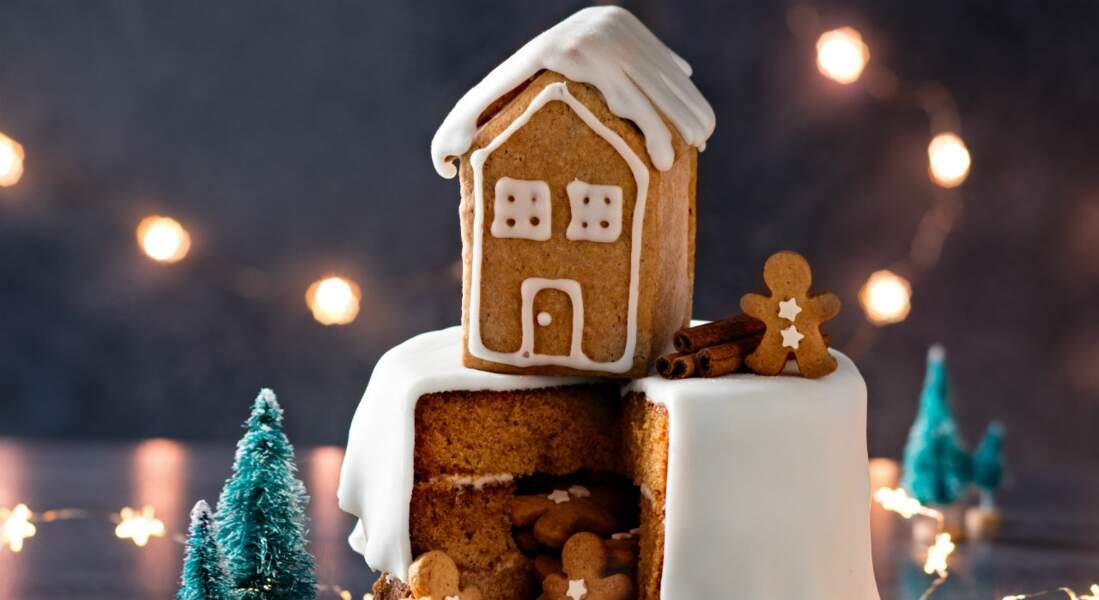 Gâteau de Noël façon pain d'épices et sablés bonhommes