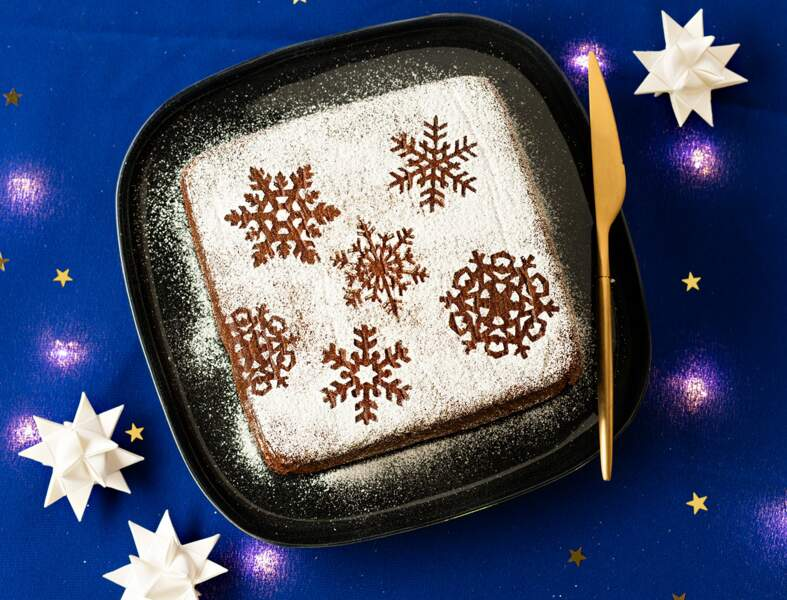 Gâteau à la crème pralinée de Noël