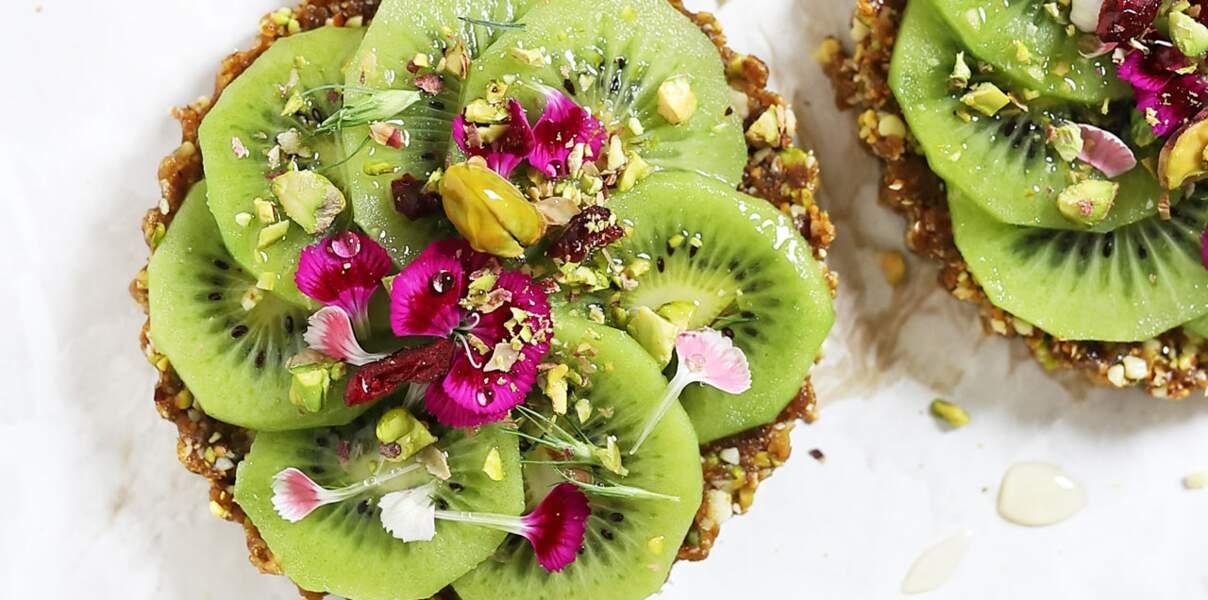 Tartelettes sans cuisson aux pistaches et kiwi