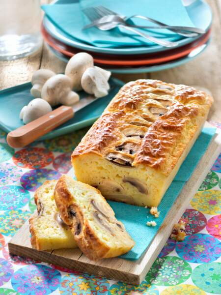 Cake aux champignons de Paris