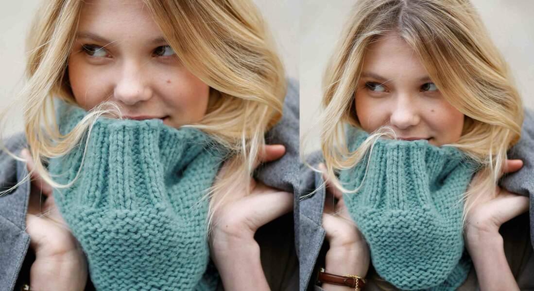 Modèle de tricot gratuit : le snood facile