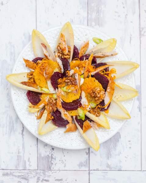 Salade d'endives, oranges, betteraves et maquereau : la recette et ses atouts nutritionnels