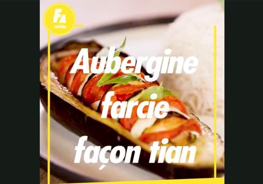 Aubergine farcie façon tian : la recette facile et rapide
