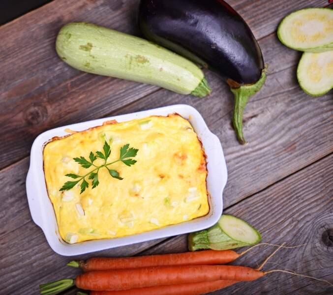 Lasagnes de courgettes et chèvre, sauce béchamel allégée