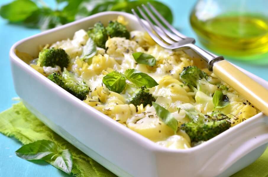 Gratins de pâtes au brocolis