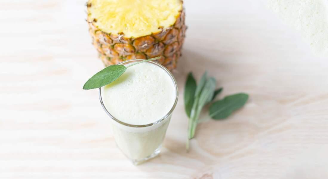 Cocktail sauge et ananas