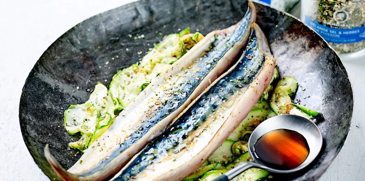 Maquereau mariné et grillé
