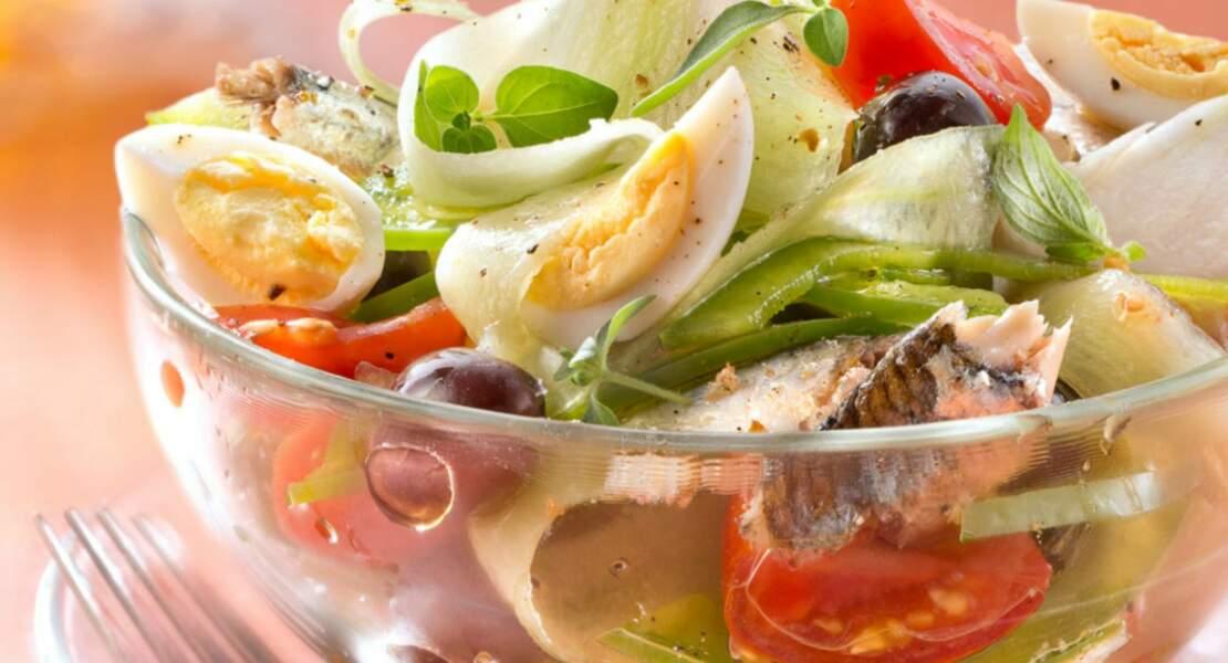 Salade croquante façon Niçoise