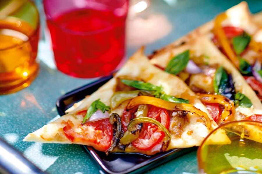 Pizza ratatouille