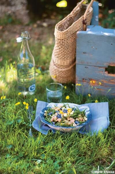 Salade Bretonne salicorne et haricots beurre en méli-mélo croquant-fondant