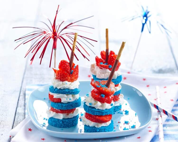 Sticks tricolores comme un fraisier