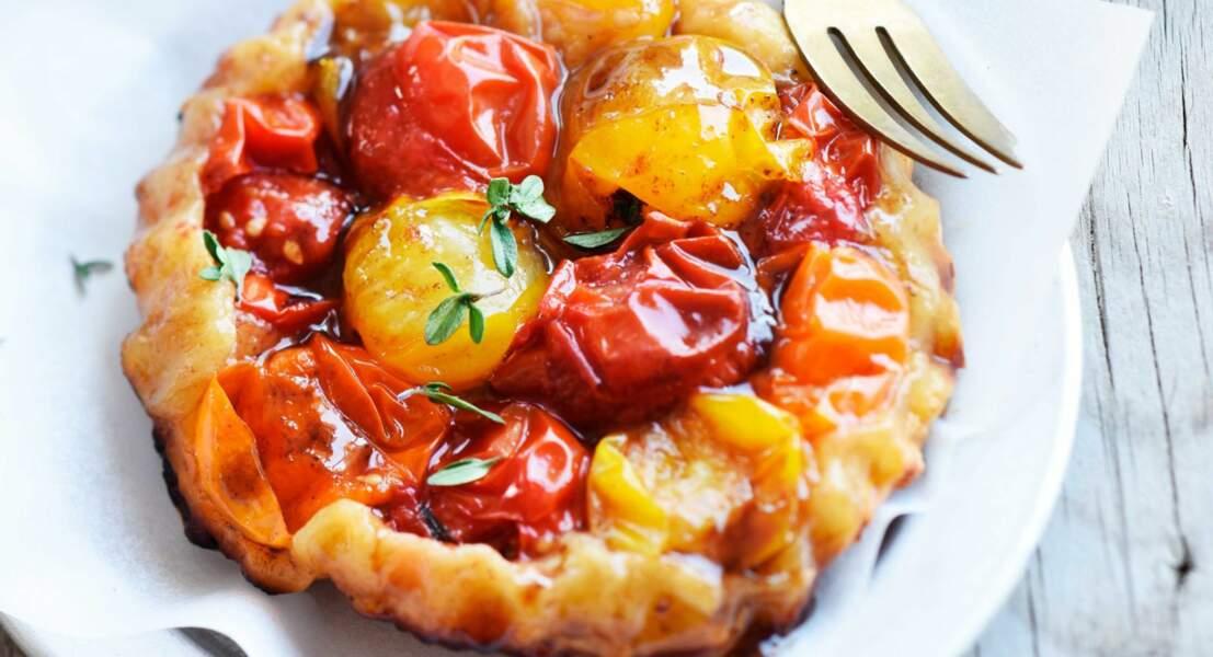 Tartelettes Tatin aux tomates cerises confites