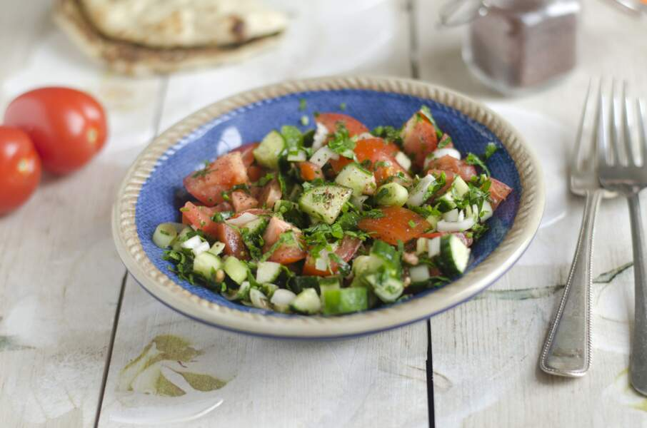 Salade concombre tomate