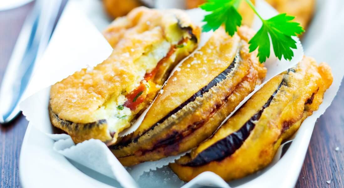 Beignets d'aubergine et chorizo facile