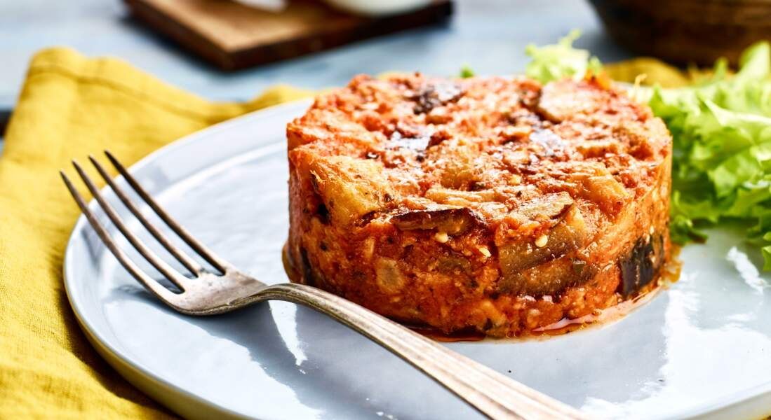 Salade tiède de ratatouille à la mozzarella