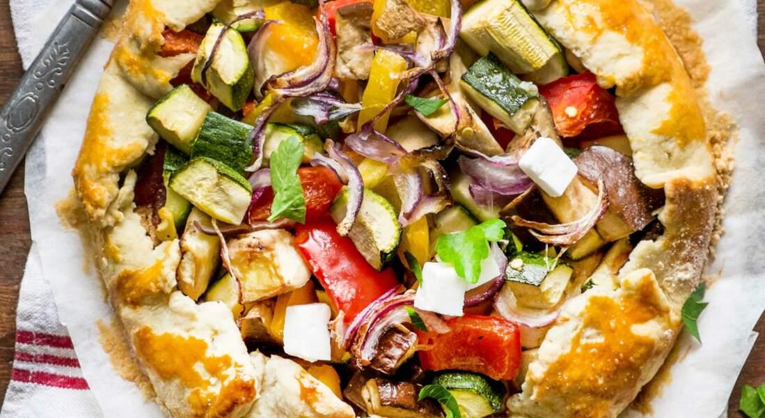 Tarte rustique aux légumes et féta
