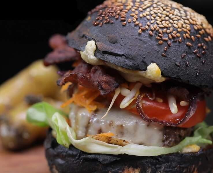 Black Burger à la viande limousine