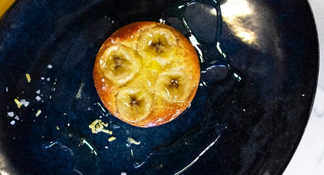 Tarte à la banane confite au sirop d'agave et fleur de sel