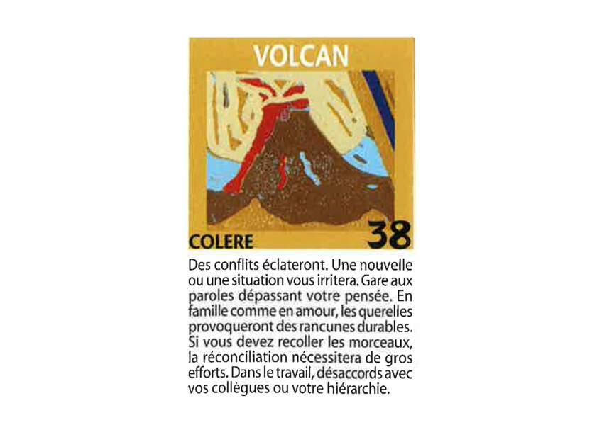 Jeu de l'oie divinatoire : volcan