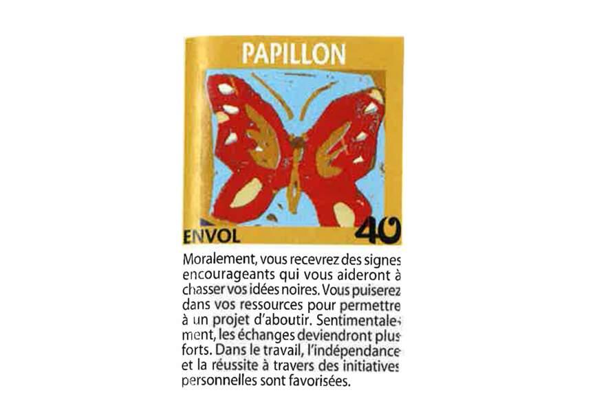 Jeu de l'oie divinatoire : papillon