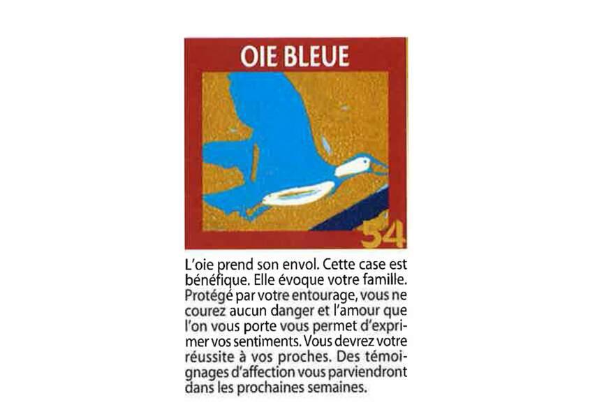 Jeu de l'oie divinatoire : oie bleue