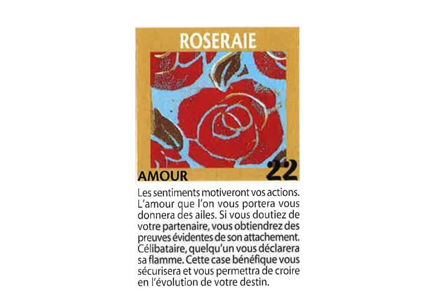 Jeu de l'oie divinatoire : roseraie