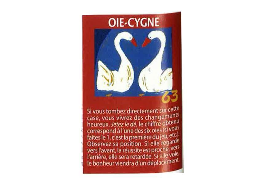 Jeu de l'oie divinatoire : oie-cygne