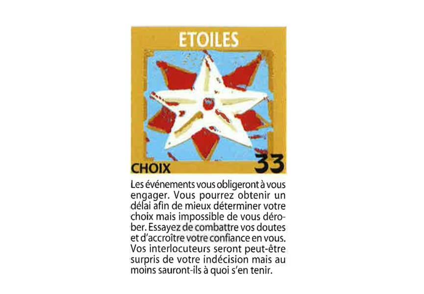 Jeu de l'oie divinatoire : étoile