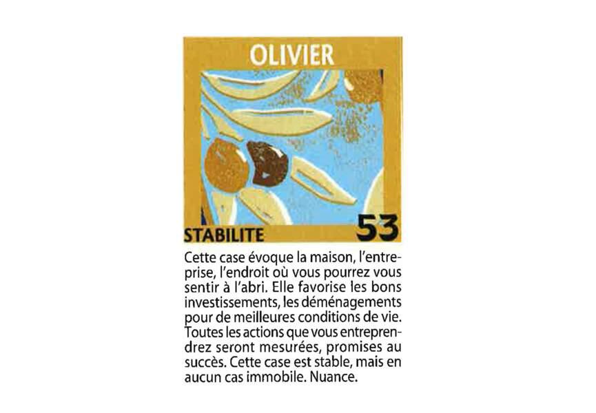 Jeu de l'oie divinatoire : olivier