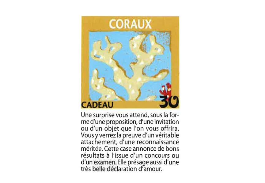 Jeu de l'oie divinatoire : coraux