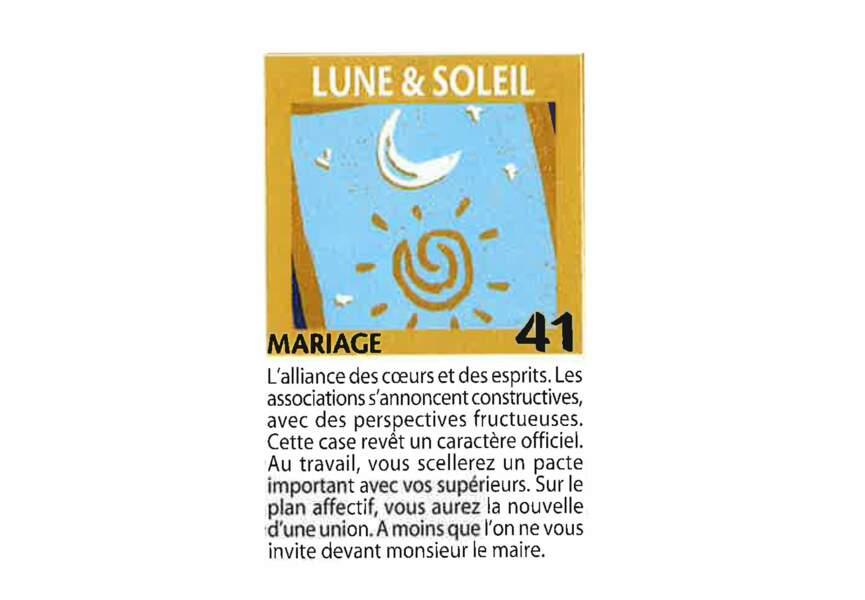 Jeu de l'oie divinatoire : lune & soleil