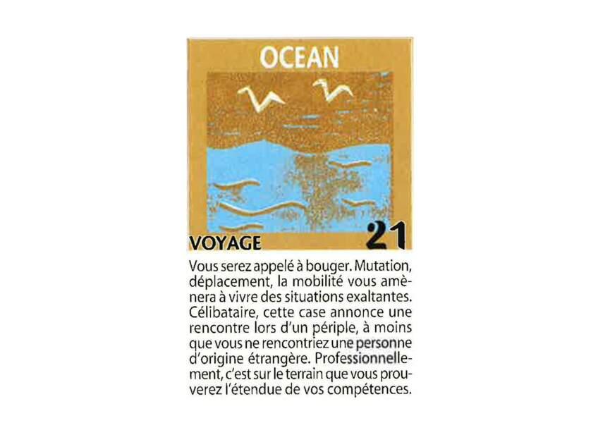 Jeu de l'oie divinatoire : océan
