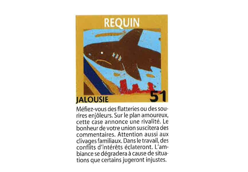 Jeu de l'oie divinatoire : requin
