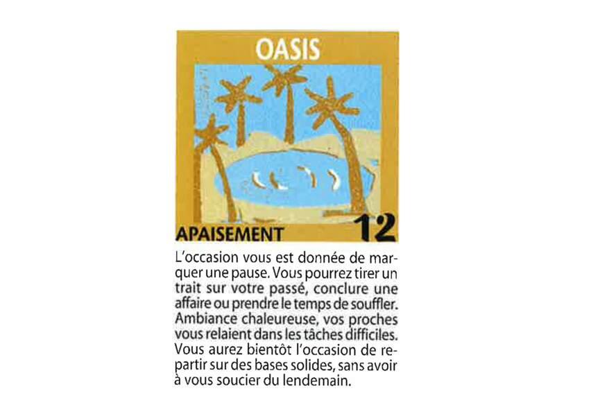 Jeu de l'oie divinatoire : oasis