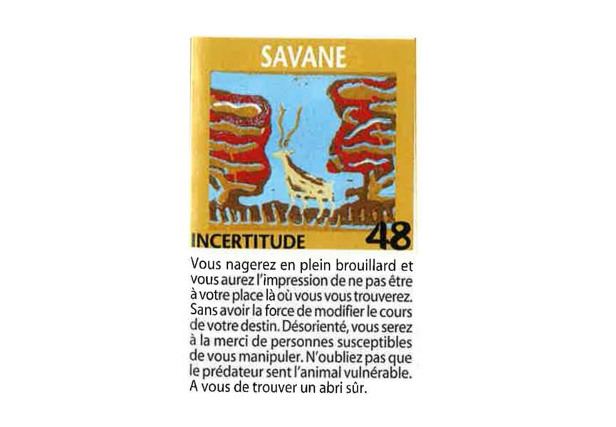 Jeu de l'oie divinatoire : savane
