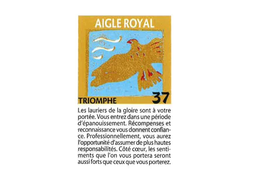 Jeu de l'oie divinatoire : aigle royal
