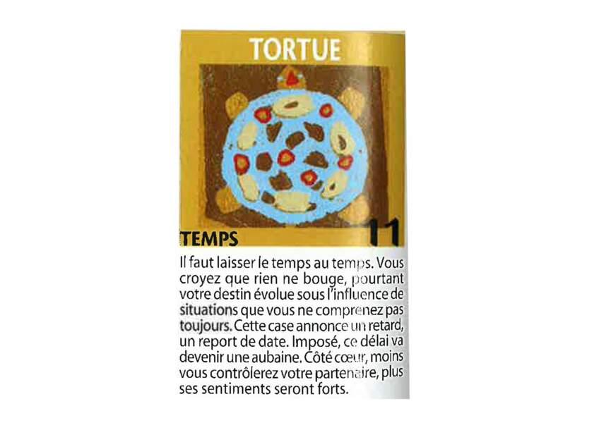 Jeu de l'oie divinatoire : tortue