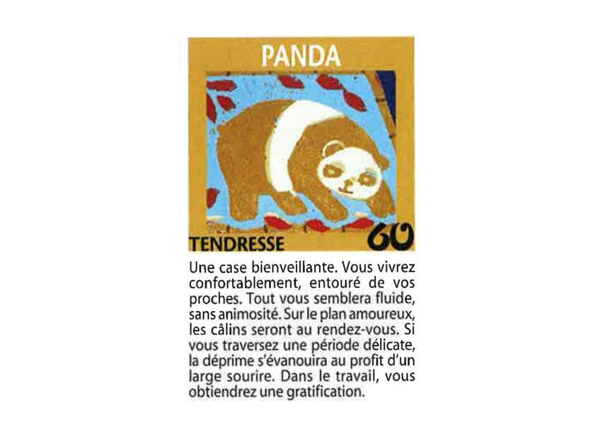 Jeu de l'oie divinatoire : panda