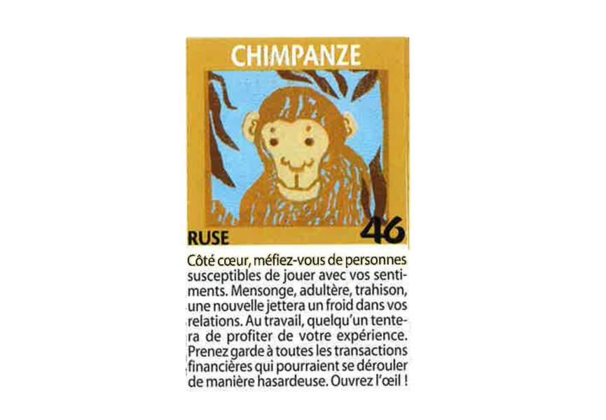 Jeu de l'oie divinatoire : chimpanzé