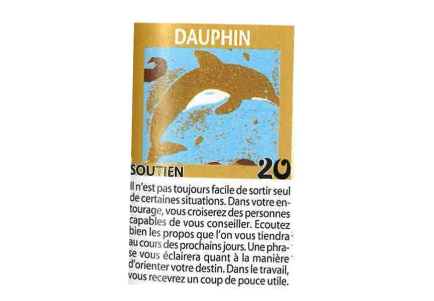 Jeu de l'oie divinatoire : dauphin