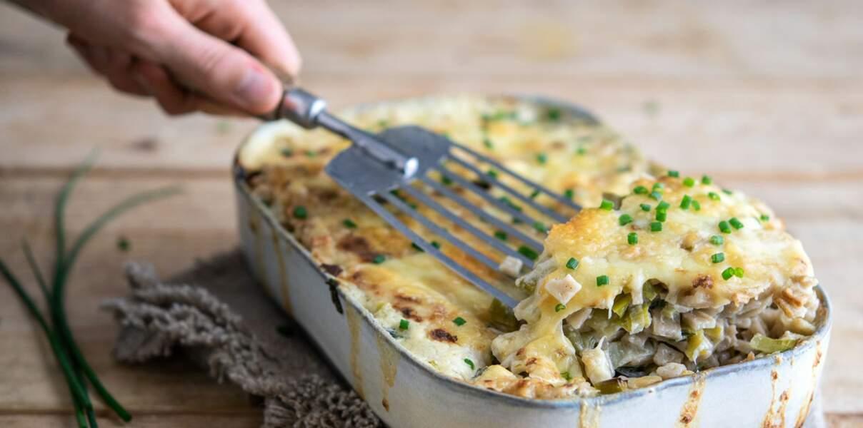 Croziflette (crozets au poireau et à la raclette)