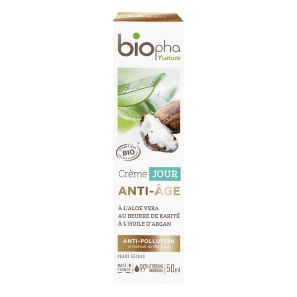 La crème de jour anti-âge Biopha Nature