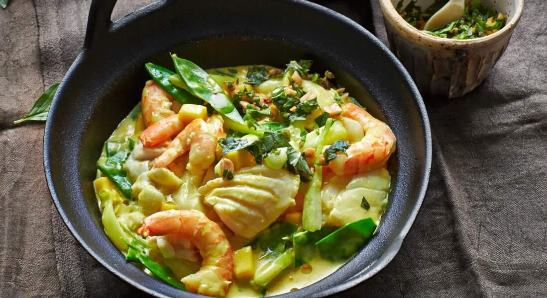 Curry thaï de la mer à la mangue