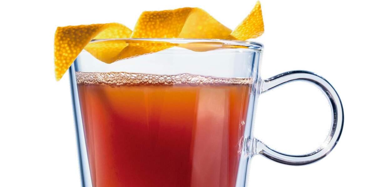 Cocktail thé et pomme épicée