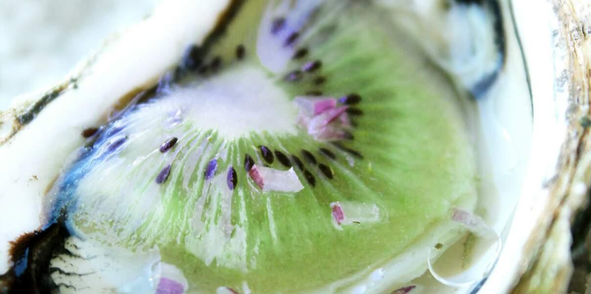 Huître au kiwi de l'Ardour