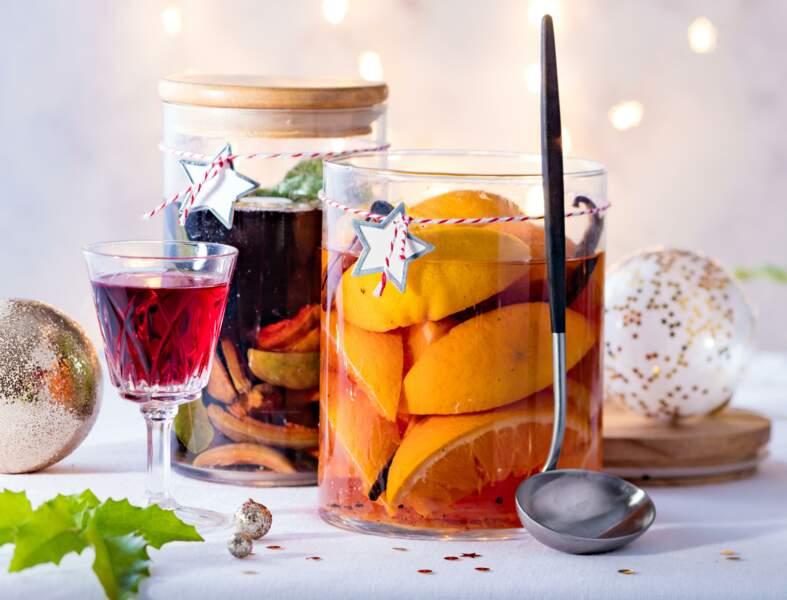 Vin d'orange et vin de noix