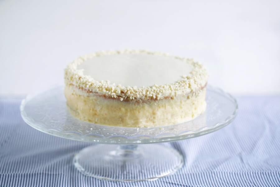 Génoise chocolat blanc