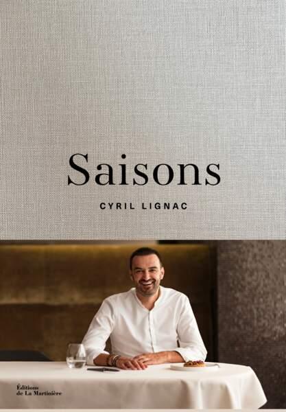 """Livre """"Saisons"""" de Cyril Lignac, Éditions de La Martinière"""