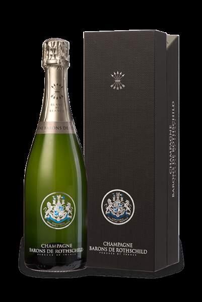 Coffret premium champagne Blanc de Blancs Barons de Rothschild